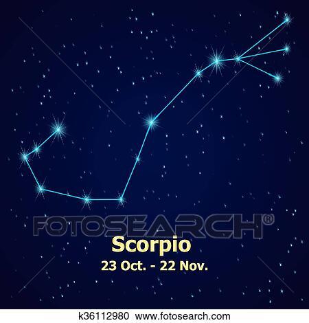 Symbol Scorpio zodiac sign  Clipart