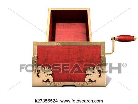 開いた びっくり箱 骨董品 イラスト K27356524 Fotosearch