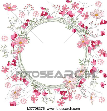 Clipart d taill contour couronne herbes pois - Clipart couronne ...