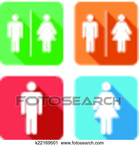 Clipart - men and women toilet signs. Fotosearch - Search Clip Art, Illustration Murals
