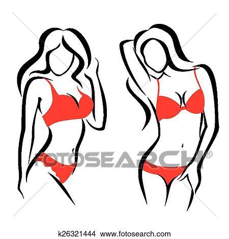 clipart of sexy woman silhouettes underwear k26321444 search clip rh fotosearch com