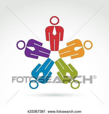 Clipart Of Teamwork And Business Team And Friendship Icon Social