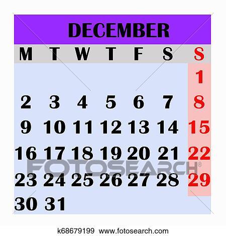Calendario Desenho Mes Dezembro 2019 Arquivos De Ilustracao