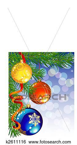 Clip Art Of Christmas Decor K2611116