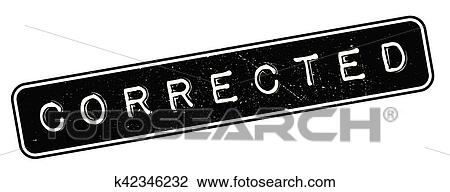 clipart of corrected rubber stamp k42346232 search clip art
