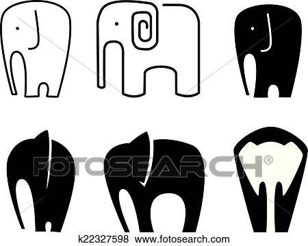 elephant icon clip art k22327598 fotosearch https www fotosearch com csp261 k22327598