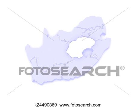 Bloemfontein South Africa Map.Map Of Free State Bloemfontein South Africa Stock