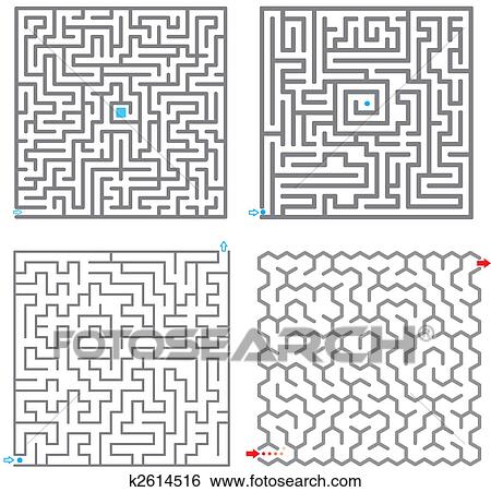 Set Of Small Labyrinth