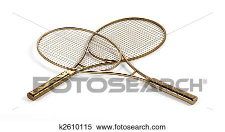 Stock Illustration Of Tennis Rackets K2610115 Search Clipart