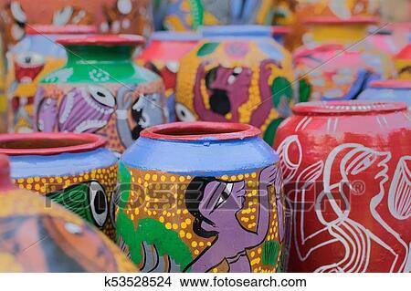 Stock Photo Of Terracotta Pots Indian Handicrafts Fair At Kolkata