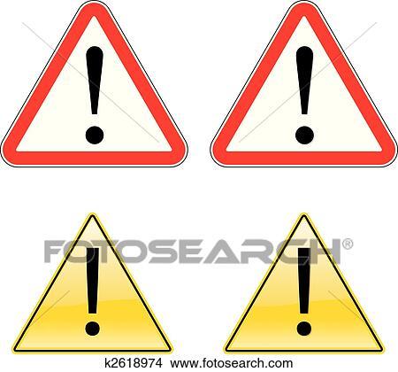 clipart warnung ausruf etikett zeichen symbol k2618974 suche clip art illustration. Black Bedroom Furniture Sets. Home Design Ideas