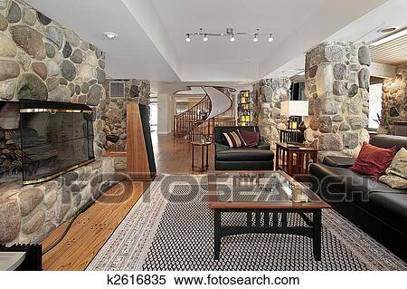 Western style living room Stock Photography