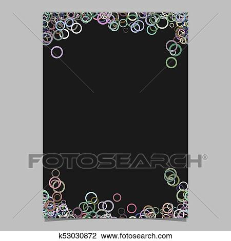 Abstract Random Circle Design Page Template Blank