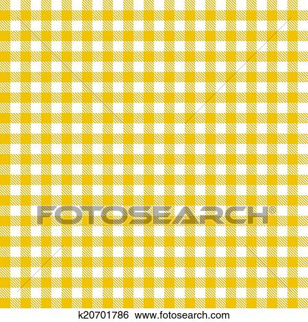 Merveilleux Checkered Tablecloths Pattern   Endless   Yellow