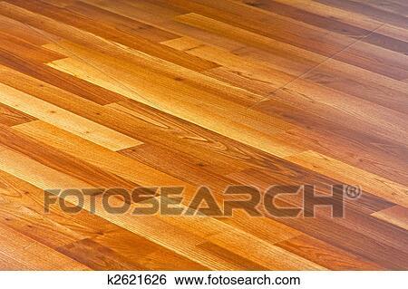 Diagonale Linien, Von, Lamelliert, Hartholz, Parkettboden