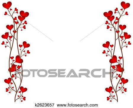 Stock Illustration of Love Flower Frame k2623657 - Search EPS ...