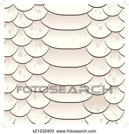 Clipart Of Snake Skin Texture Seamless Pattern White Background