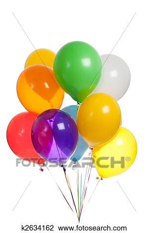 stock photo of colored balloons on a white background k2634162
