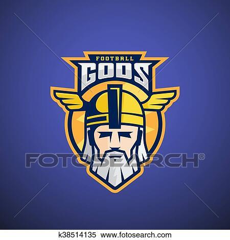 Clipart of football gods vector sport team or league logo template clipart football gods vector sport team or league logo template odin face with typography maxwellsz