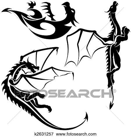 Stock Illustration Of Tattoo Dragons K2631257