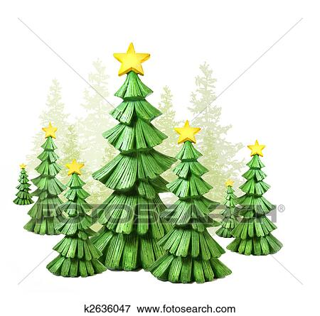 picture whimsical christmas trees against a white fotosearch search stock photography photos