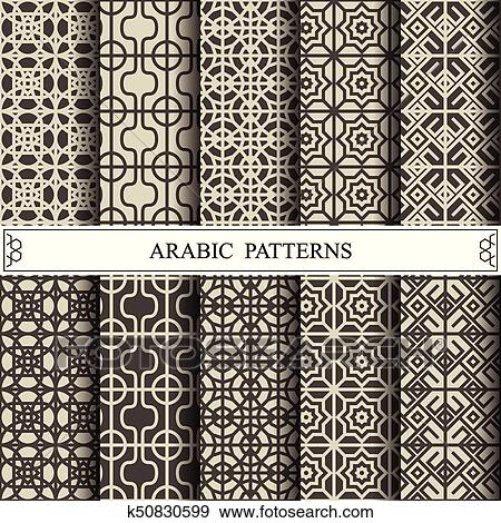 Clip Art Of Arabic Vector Pattern Web Page Background Surface