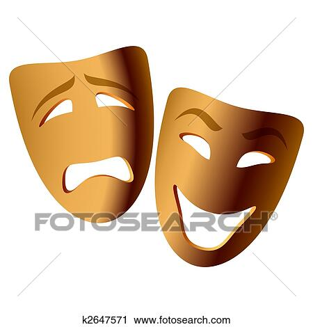 clipart of comedy and tragedy masks k2647571 search clip art