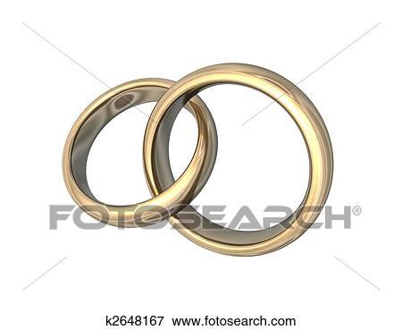 Stock Illustration Hochzeit Ringe Gold 3d K2648167 Suche