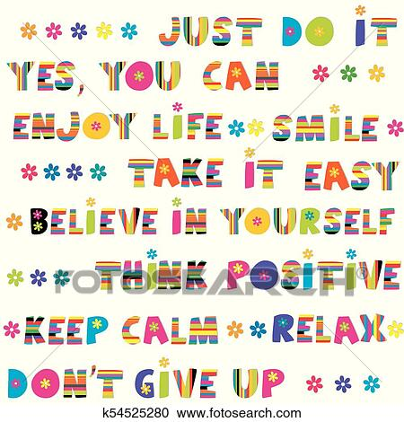 Clipart Of Motivational Slogans With Funny Hand Drawn Lettering Beauteous Motivational Slogans