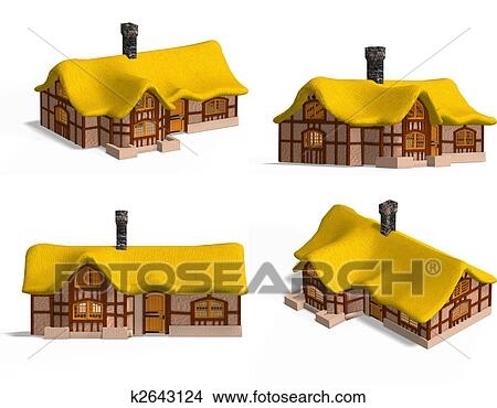 Dessins moyen ge maisons petite maison k2643124 recherche de clip arts d - Dessins moyen age ...