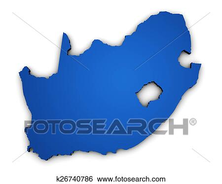 Shape Of Africa Map.Stock Illustration Of South Africa Map 3d Shape K26740786 Search