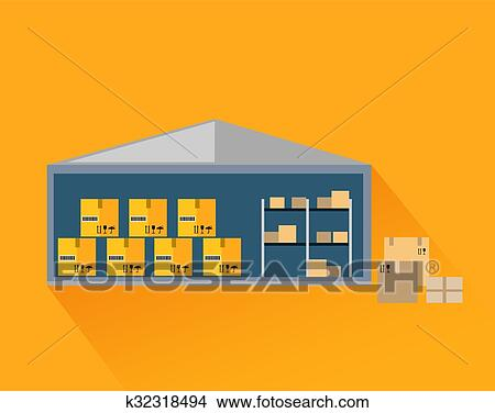 Storage Warehouse Management Stock Illustrations, Cliparts And Royalty Free Storage  Warehouse Management Vectors
