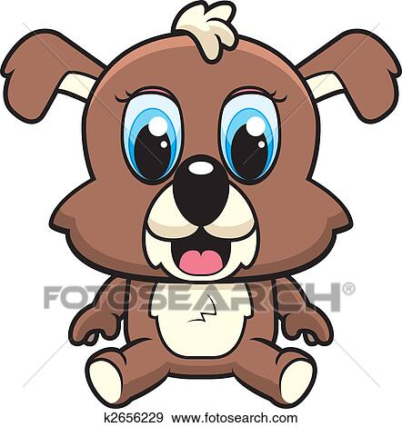 clip art of baby puppy k2656229 search clipart illustration rh fotosearch com Litter of Puppies Clip Art Litter of Puppies Clip Art