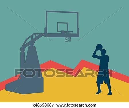 Basketball Player Abstract Art