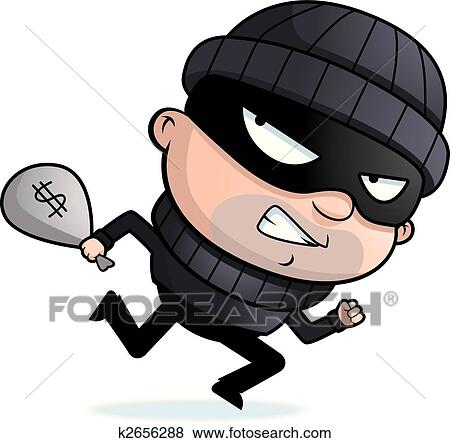 clip art of burglar running k2656288 search clipart illustration rh fotosearch com animated burglar clipart burglar alarm clipart