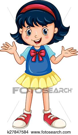 clipart of girl speaking k27847584 search clip art illustration rh fotosearch com speaking clipart gifs speaking clipart gifs