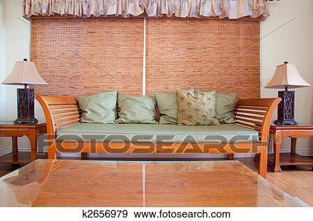 Hawaiian House Decor Stock Photo