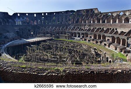 Colección De Imágen Antiguo Coliseo Dentro Roma Italia