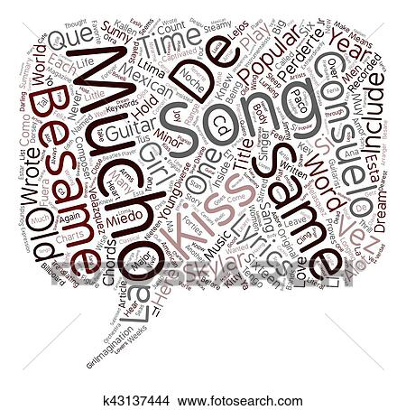 Clipart of Besame Mucho Guitar Chords And Lyrics text background ...