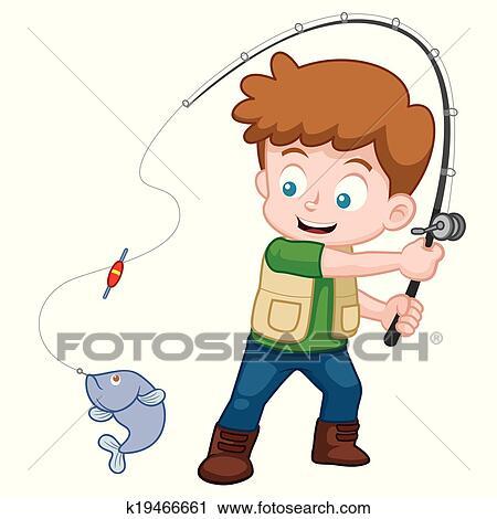 clipart of boy fishing k19466661 search clip art illustration rh fotosearch com boy fishing clip art realistic picture boy fishing clip art free
