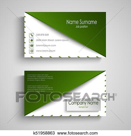 Clipart of business card with white green design triangle template business card with white green design triangle template vector eps 10 fbccfo Images