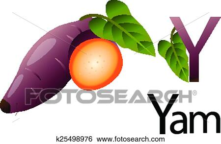 clip art of illustrator y font with yam k25498976 search clipart rh fotosearch com yam clipart images yam clipart images