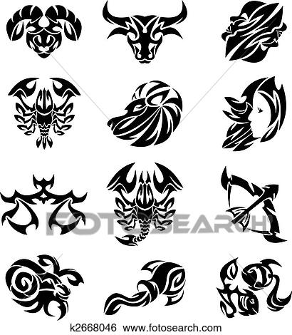 clipart tribal zodiaque k2668046 recherchez des cliparts des illustrations des dessins et. Black Bedroom Furniture Sets. Home Design Ideas