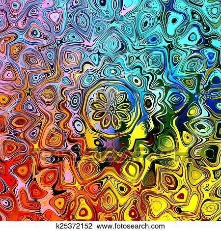 Abstratos Coloridos Mandala Fundo Desenho K25372152 Fotosearch