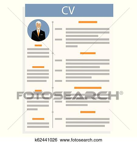 Clip Art Of Curriculum Vitae Vector K62441026 Search Clipart