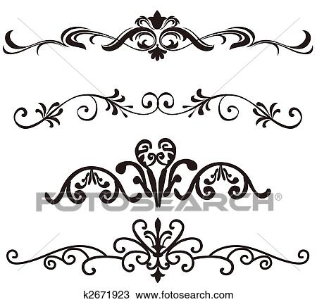 drawing of flower pattern k2671923 search clipart illustration rh fotosearch com