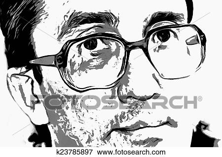 stock illustration of look men in glasses k23785897 search eps
