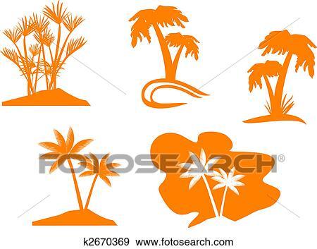 Clipart palmier ensemble k2670369 recherchez des cliparts des illustrations des dessins - Palmier clipart ...