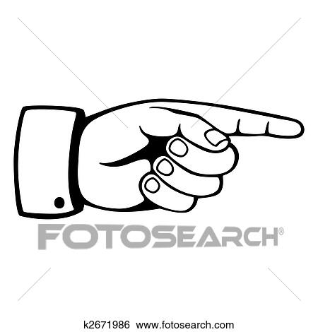 stock illustration of pointing hand k2671986 search clip art rh fotosearch com hand pointing up clipart pointing hand clip art free