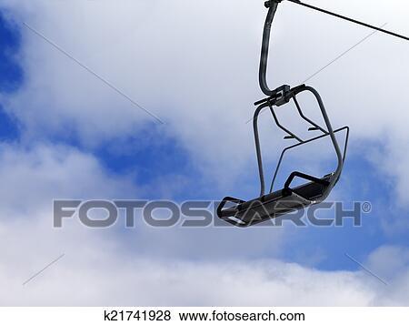 Bilder Sessellift Blau Himmel Mit Wolkenlandschaft K21741928